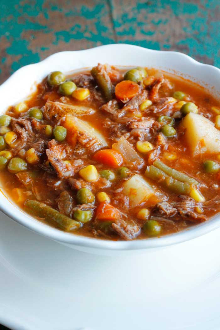 Vegetable Soup With Beef  My Mom s Old Fashioned Ve able Beef Soup Smile Sandwich