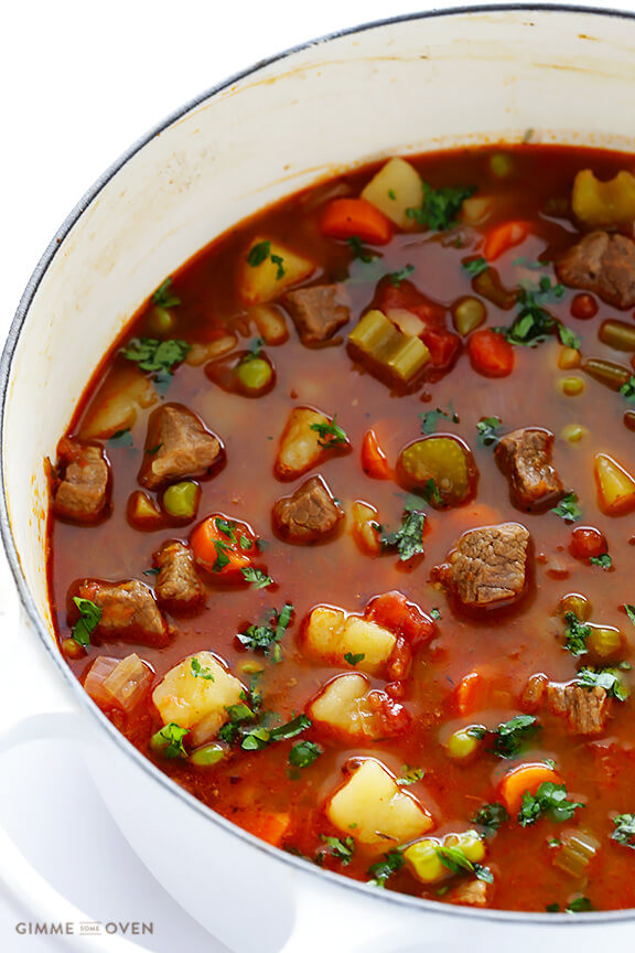 Vegetable Soup With Beef  easy beef soup