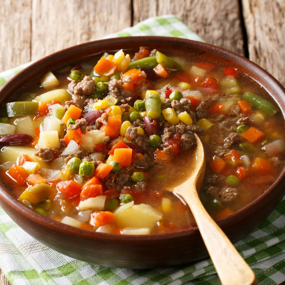 Vegetable Soup With Beef  Easy Ve able Beef Soup The Weary Chef