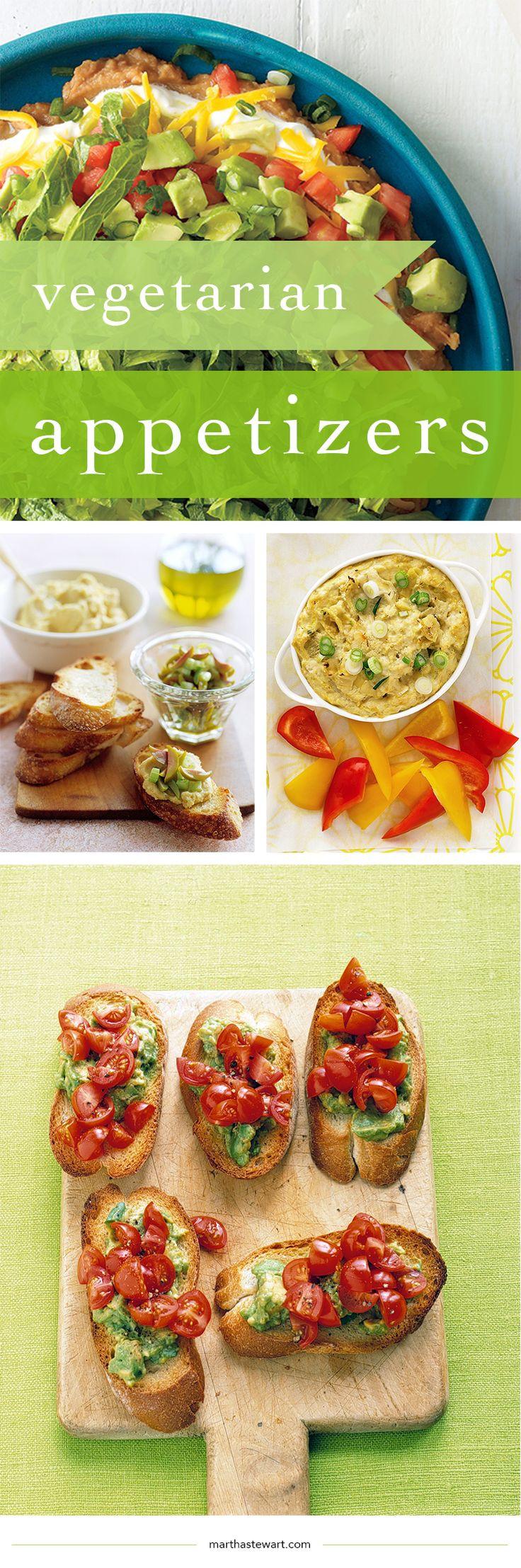 Vegetarian Appetizer Recipes  The 25 best Elegant dinner party ideas on Pinterest