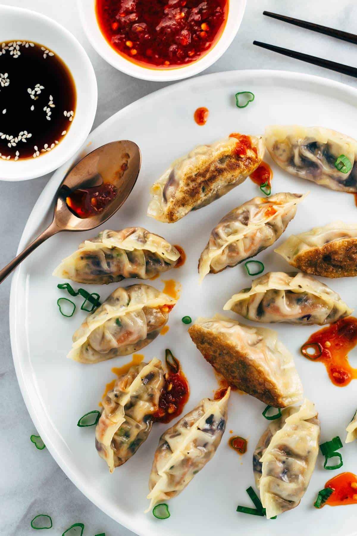 Vegetarian Appetizer Recipes  Pan Fried Crispy Ve able Tofu Dumplings Recipe