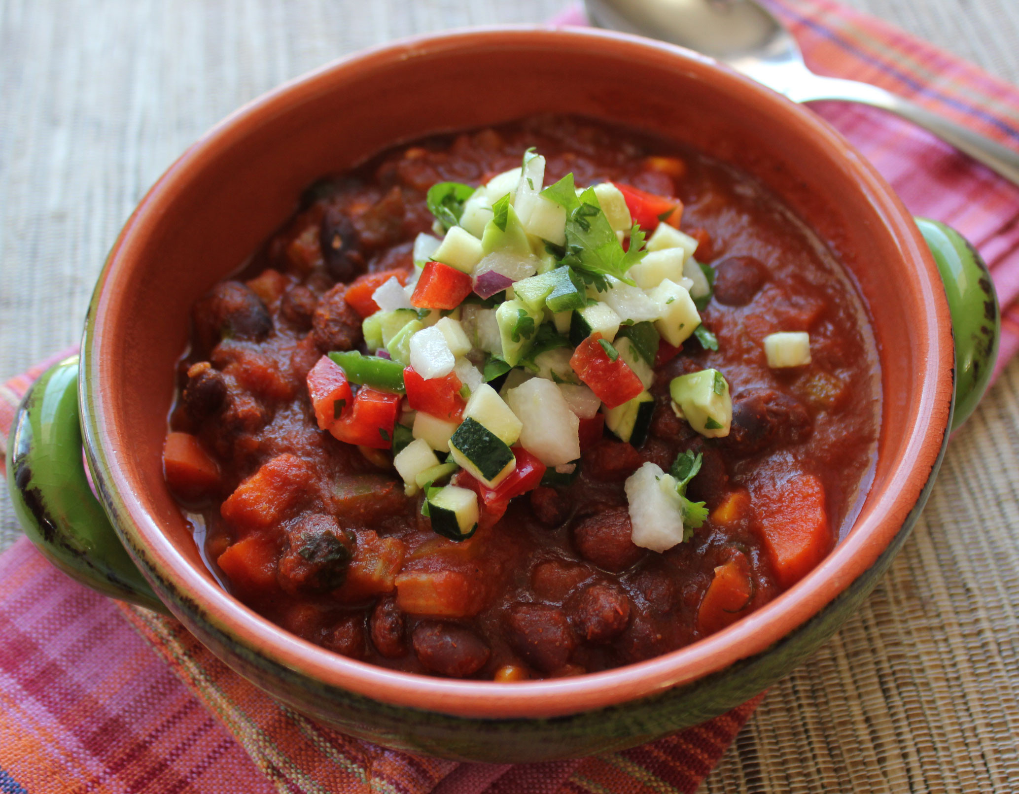 Vegetarian Black Bean Chili  Ve arian Black Bean Chili