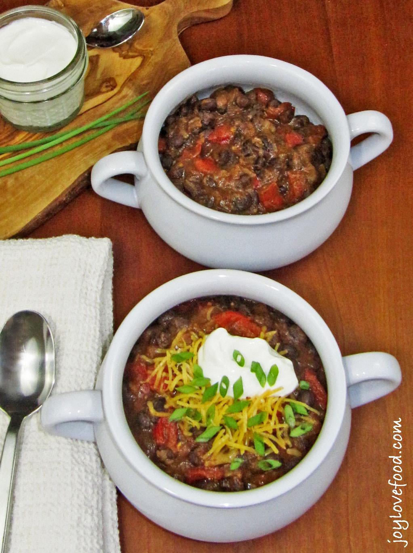 Vegetarian Black Bean Chili  Ve arian Black Bean Chili Joy Love Food