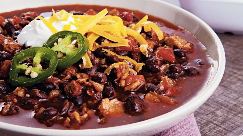 Vegetarian Black Bean Chili  Ve arian Black Bean Chili Recipe BettyCrocker