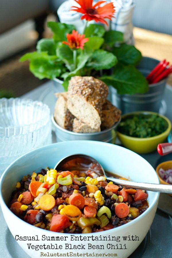 Vegetarian Black Bean Chili  Ve arian Black Bean Chili Recipe — Dishmaps