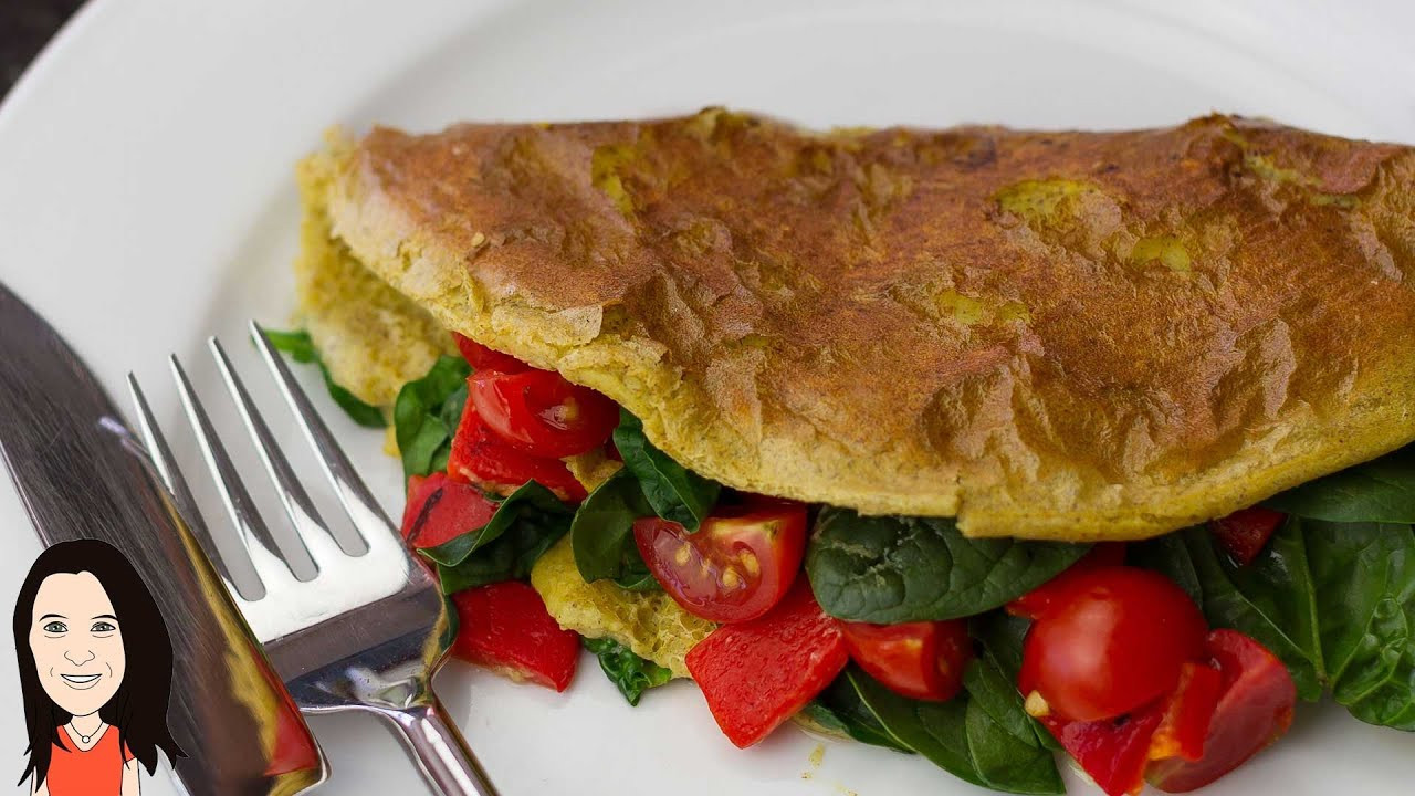 Vegetarian Breakfast Ideas No Eggs  Vegan Chickpea Omelette NO EGGS Perfect Vegan Breakfast