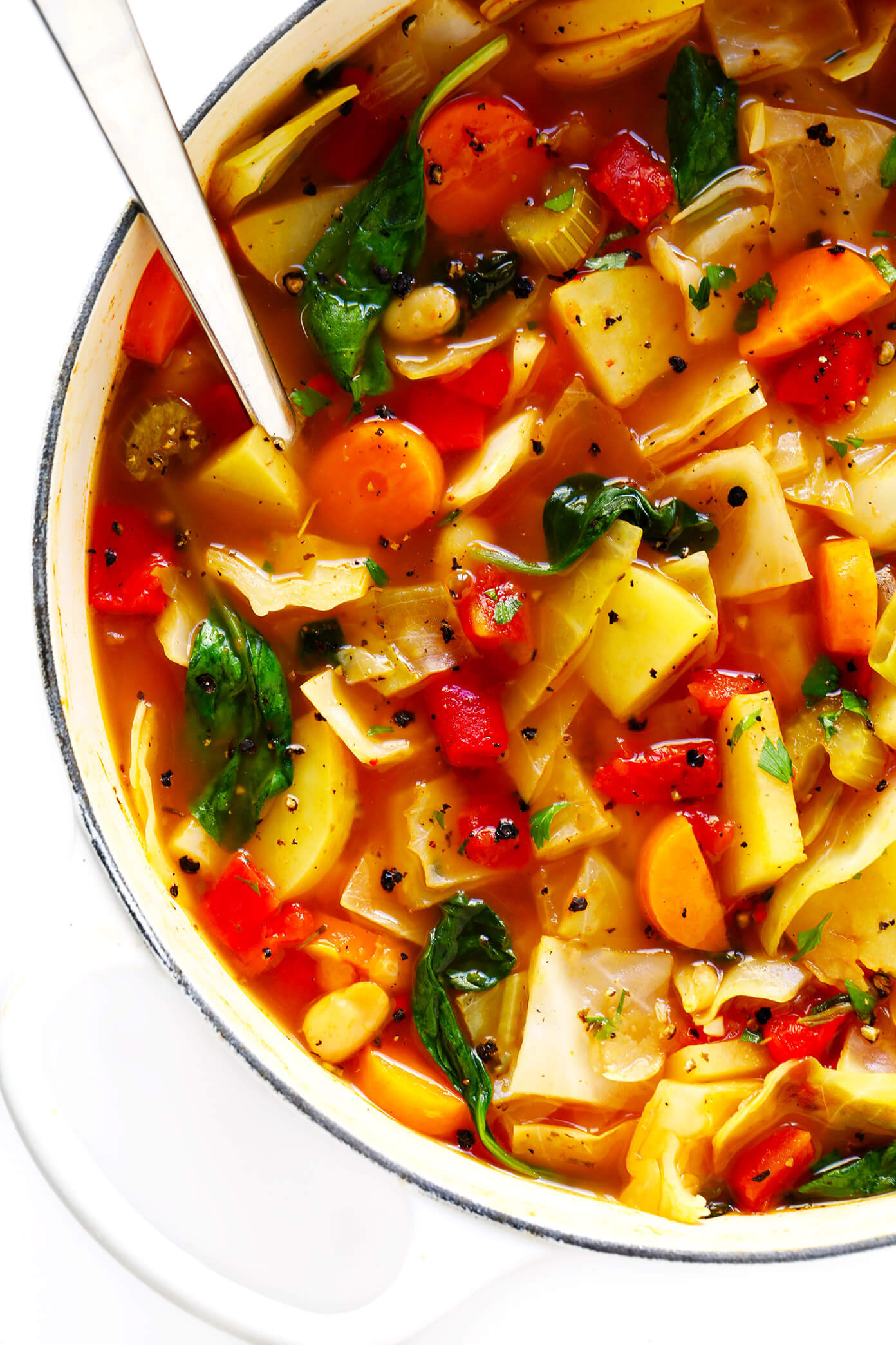 Vegetarian Cabbage Soup  Spicy Ve arian Cabbage Soup