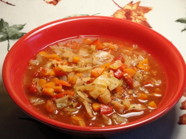 Vegetarian Cabbage Soup  Ve arian Cabbage Soup Recipe Food