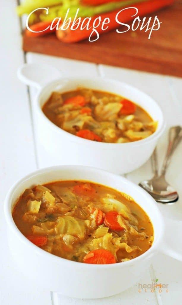 Vegetarian Cabbage Soup  Vegan Cabbage Soup