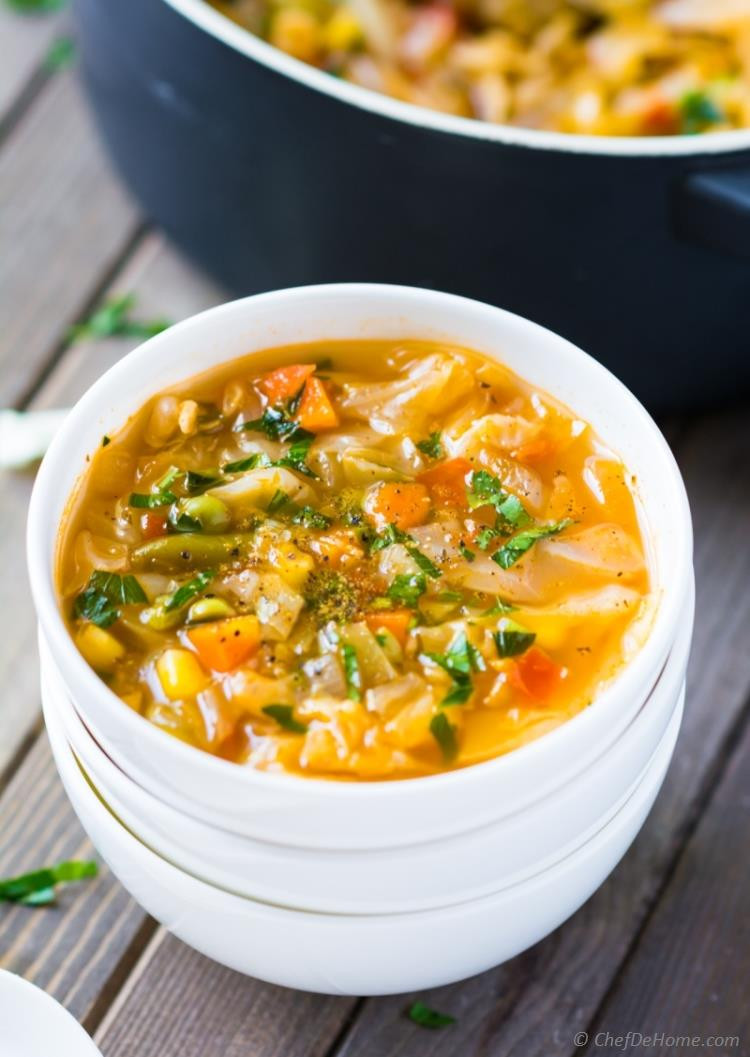 Vegetarian Cabbage Soup  Ve arian Cabbage Soup Recipe