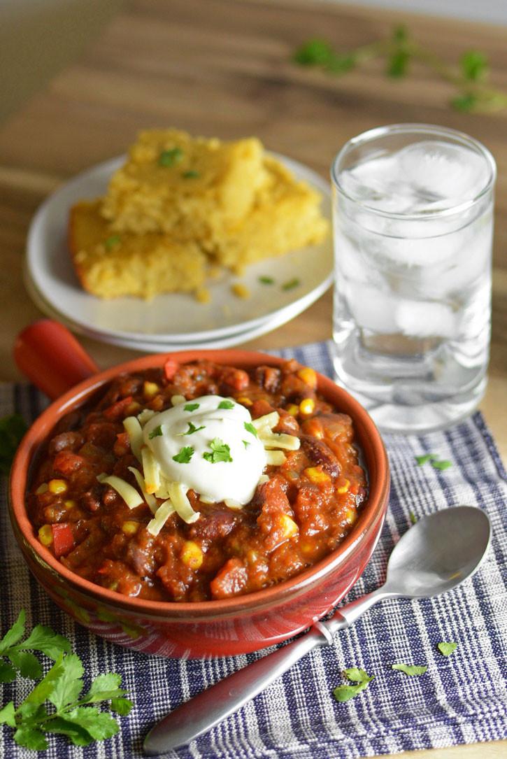 Vegetarian Chili Recipe Crock Pot  Crock Pot Ve able Chili
