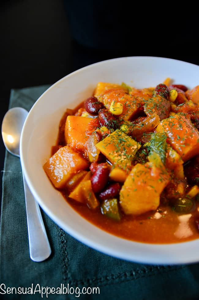 Vegetarian Chili Recipe Crock Pot  Vegan Butternut Chili Healthy Crock Pot Recipe Sensual