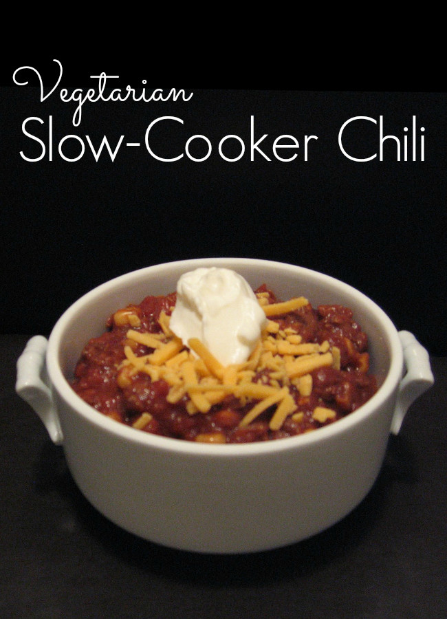 Vegetarian Chili Recipe Crock Pot  Ve arian Crock Pot Chili Recipe