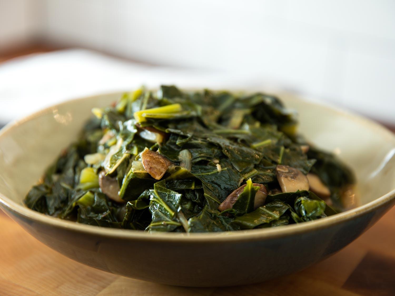 Vegetarian Collard Greens  how to make collard greens without meat