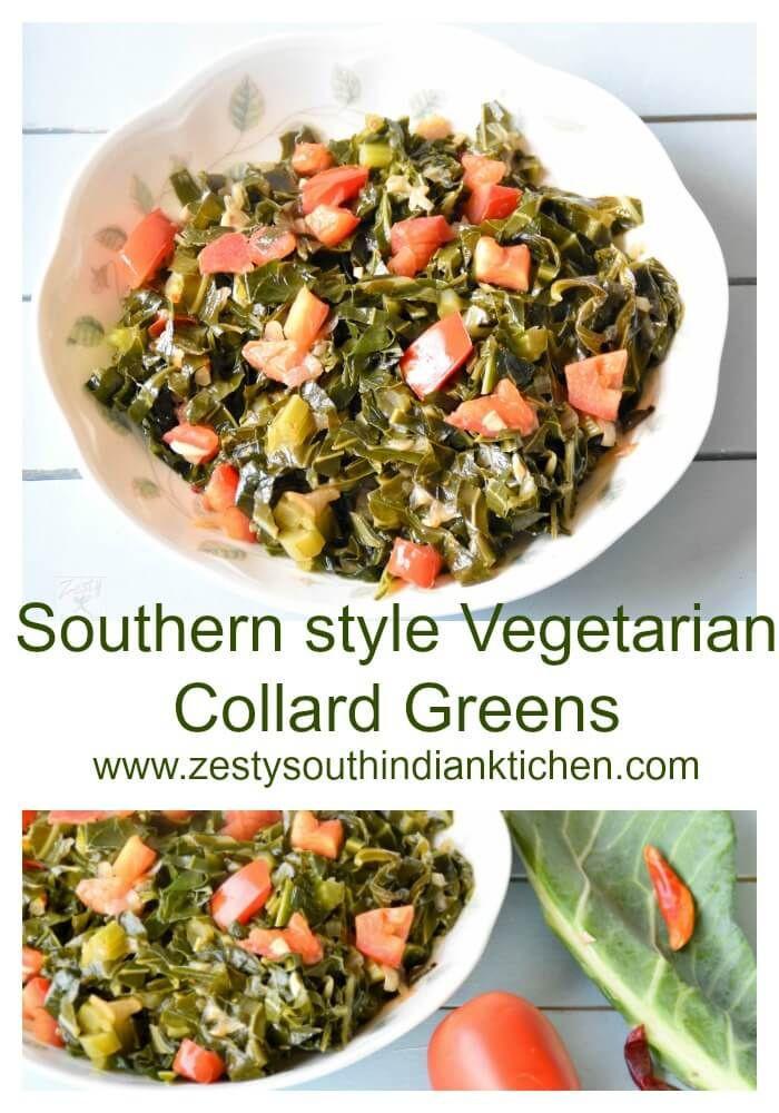 Vegetarian Collard Greens  Southern Style Ve arian Collard Greens