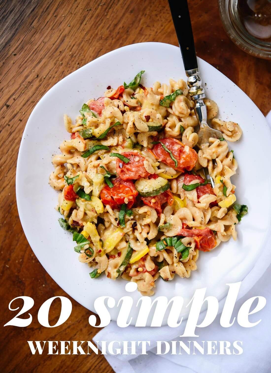 Vegetarian Dinner Ideas  20 Simple Ve arian Dinner Recipes Cookie and Kate