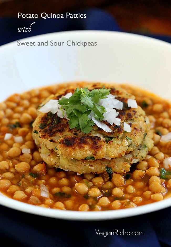 Vegetarian Entree Recipes  tikki chole 259 002