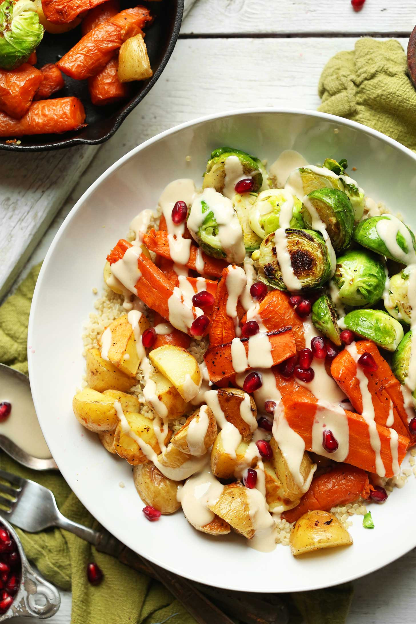 Vegetarian Entree Recipes  Roasted Ve able Quinoa Harvest Bowl
