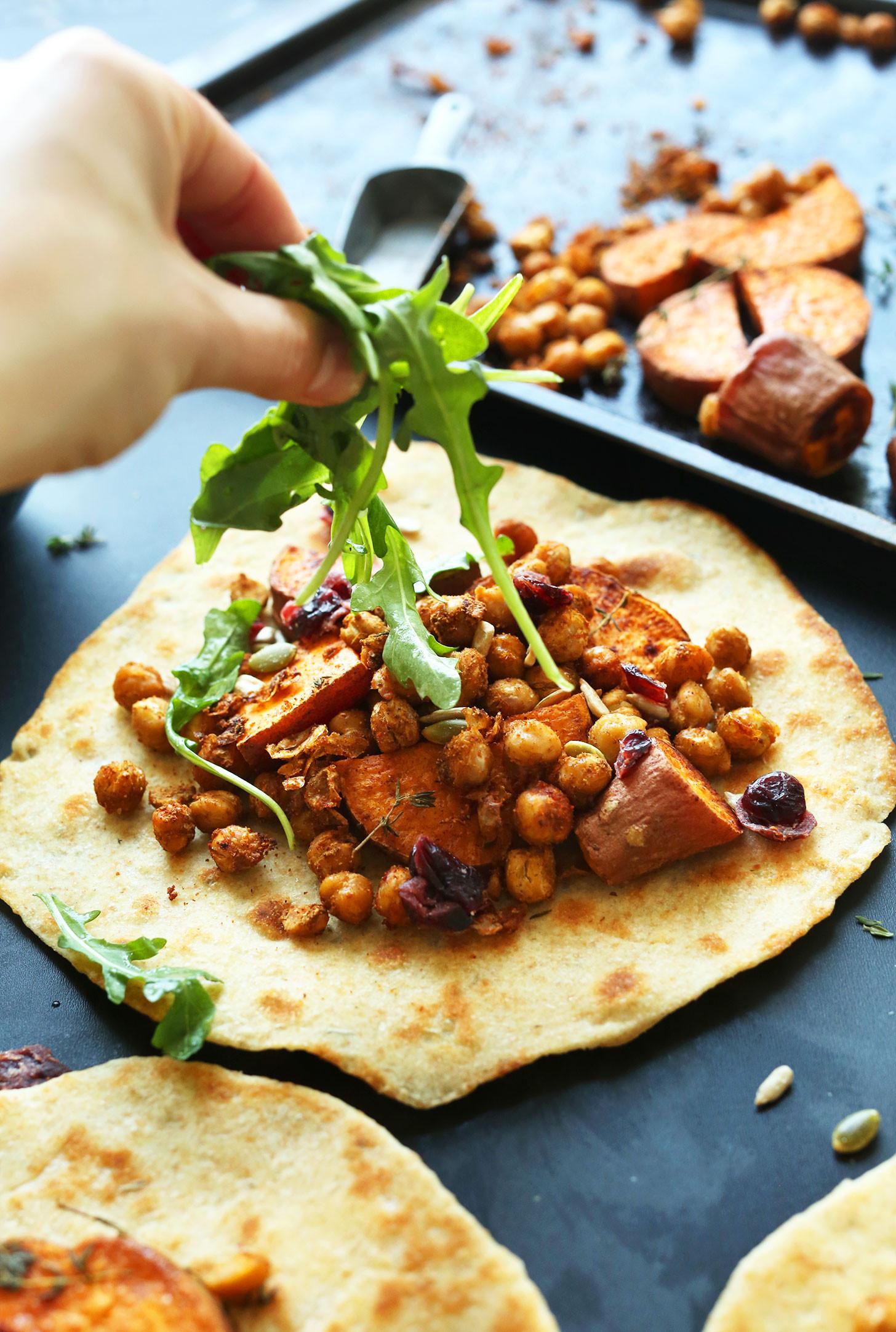 Vegetarian Entree Recipes  Vegan Thanksgiving Wraps