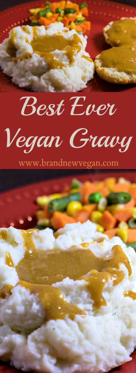Vegetarian Gravy Recipe  Best Ever Fat Free Vegan Gravy Brand New Vegan