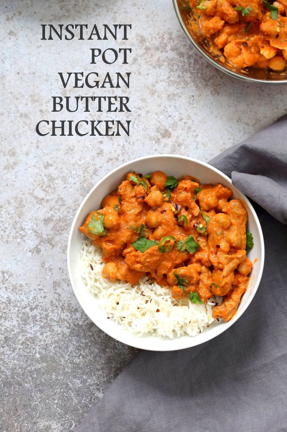 Vegetarian Instant Pot Recipes  Instant Pot Vegan Butter Chicken with Soy Curls