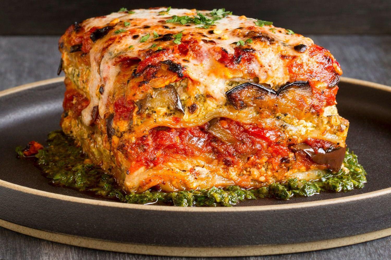 Vegetarian Lasagna Recipes  Vegan Grilled Garden Ve able Lasagna With Puttanesca