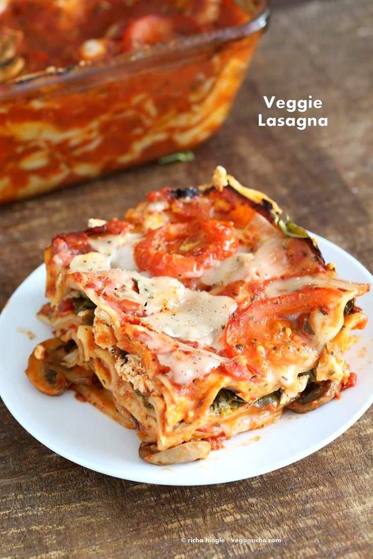 Vegetarian Lasagna Recipes  Vegan Veggie Lasagna for 2 Vegan Richa