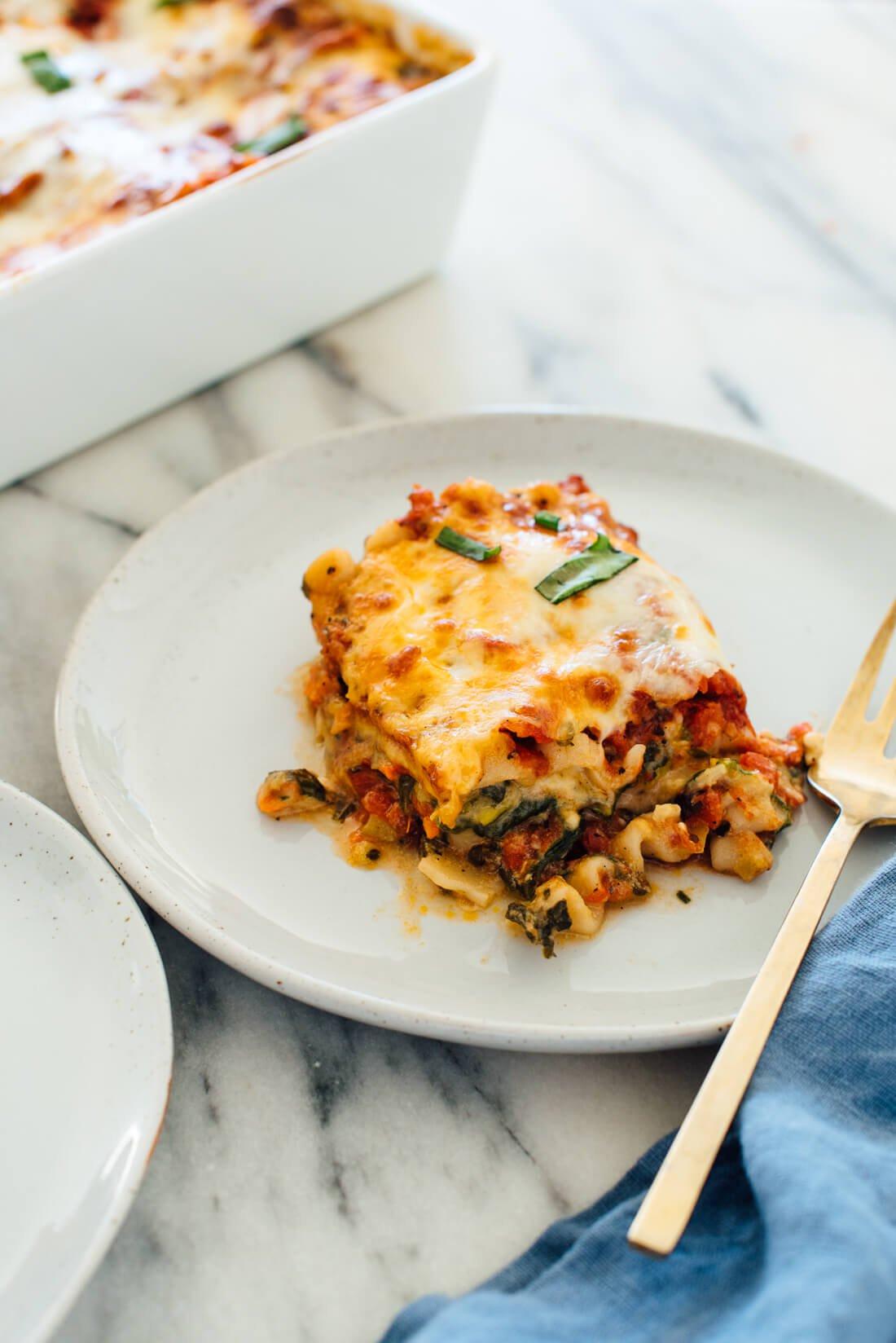 Vegetarian Lasagna Recipes  Best Ve able Lasagna Recipe Cookie and Kate