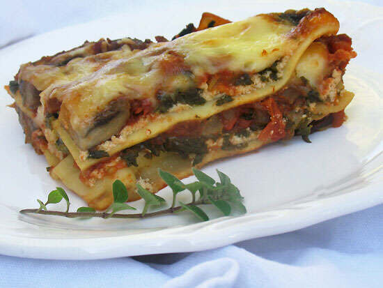 Vegetarian Lasagna Spinach  Ve arian Mushroom and Spinach Lasagna – The Bay Observer