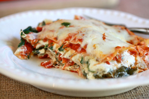 Vegetarian Lasagna Spinach  Ve arian Lasagna Recipe Fresh Tastes Blog