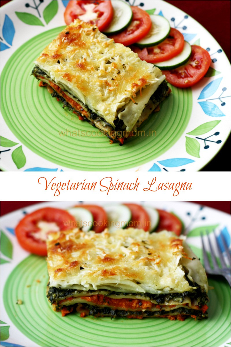 Vegetarian Lasagna Spinach  Ve arian Spinach lasagna whats cooking mom