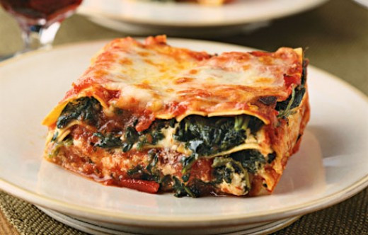 Vegetarian Lasagna Spinach  Vegan Spinach Lasagna