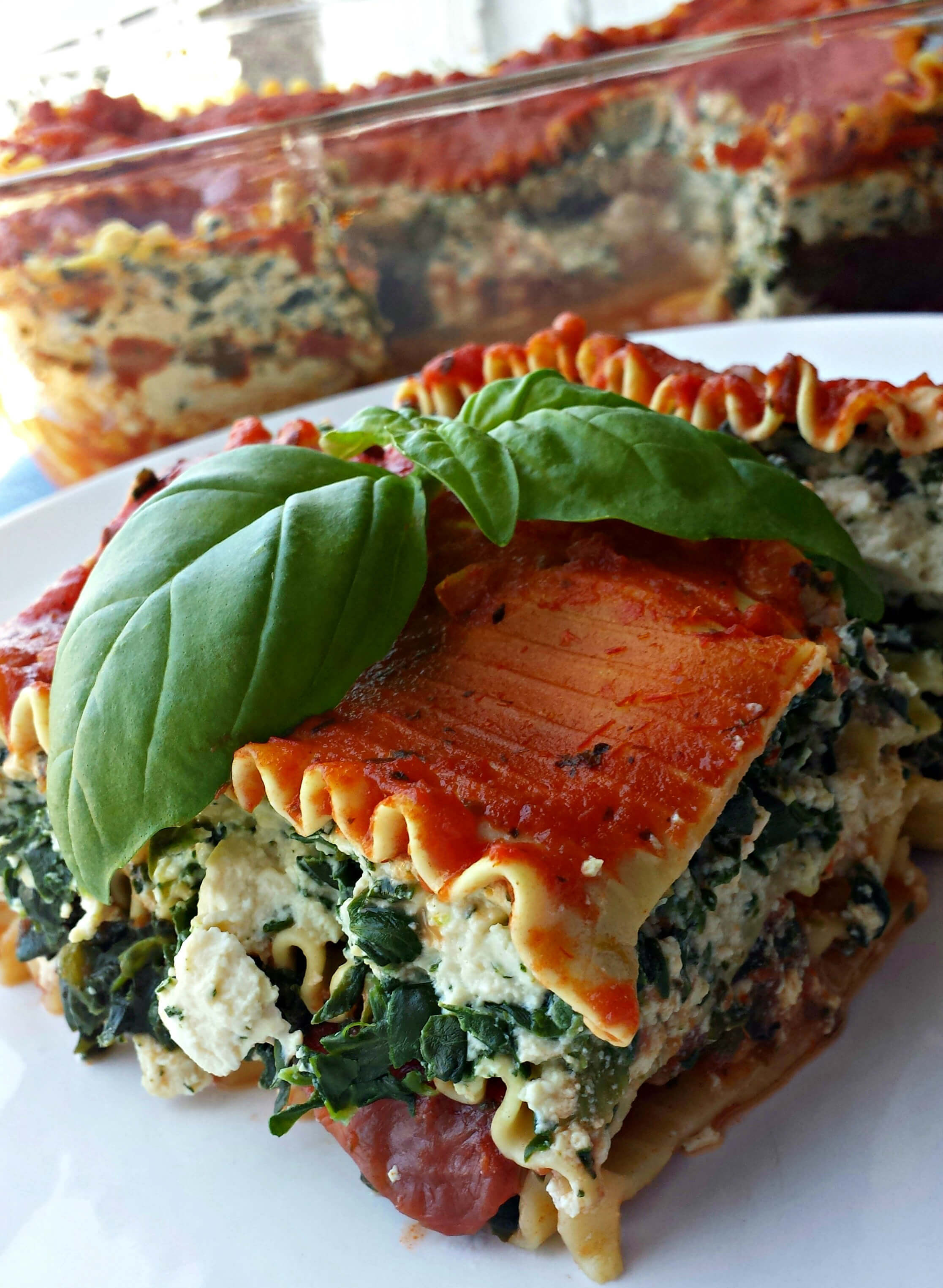 Vegetarian Lasagna Spinach  Tofu Spinach Lasagne