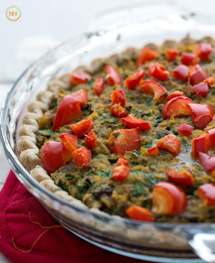 Vegetarian Main Dishes  Vegan Holiday Main Dish Mushroom Chickpea Hazelnut Tart