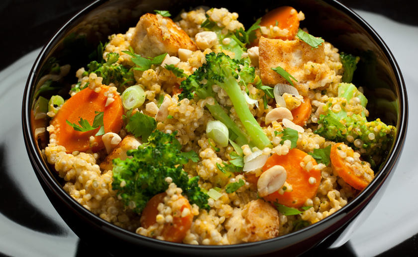 Vegetarian Main Dishes  Spicy Thai Coconut Quinoa Ve arian Main Dishes for