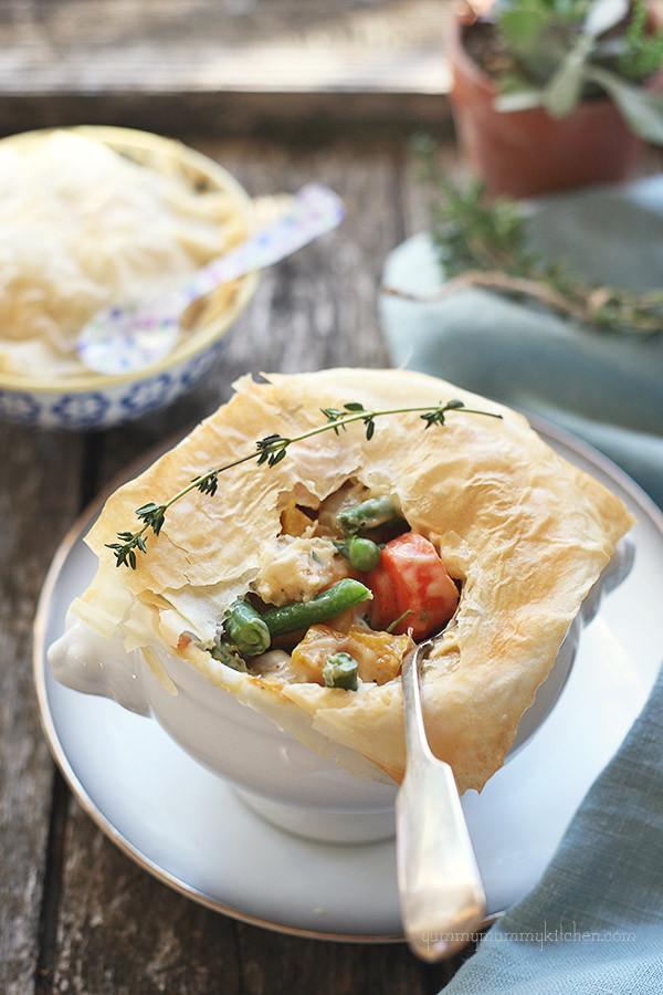 Vegetarian Pot Pie  Lighter Ve able Pot Pie Yummy Mummy Kitchen