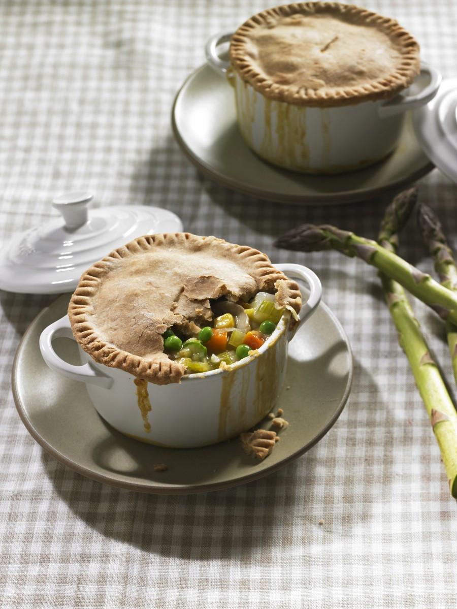 Vegetarian Pot Pie  Ve able Pot Pies Recipe