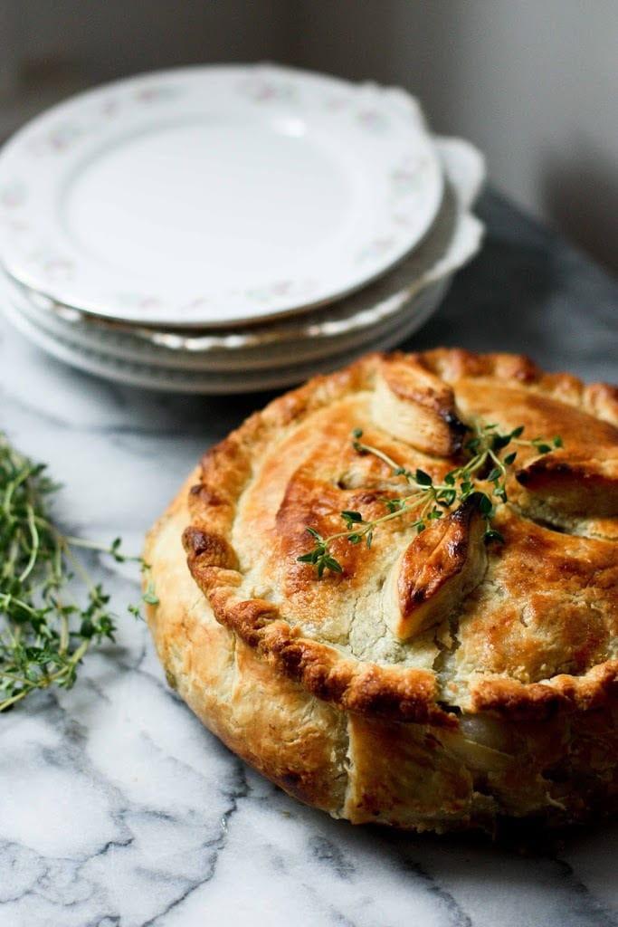 Vegetarian Pot Pie  Spring Ve able Pot Pie