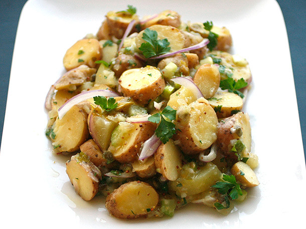 Vegetarian Potato Recipes  How to Make Vegan Creamy Fingerling Potato Salad