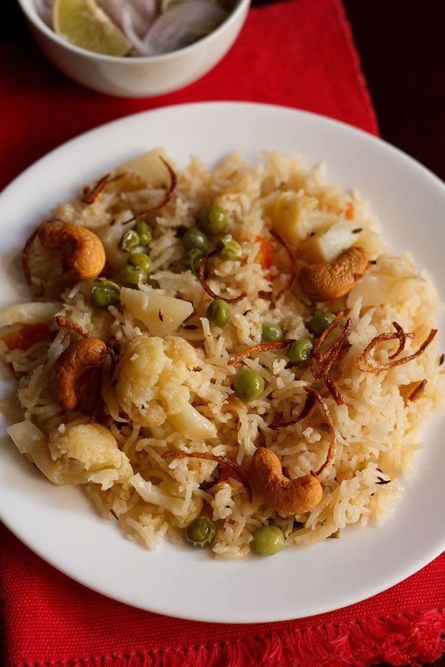 Vegetarian Pressure Cooker Recipes  Ve able pulao recipe in pressure cooker