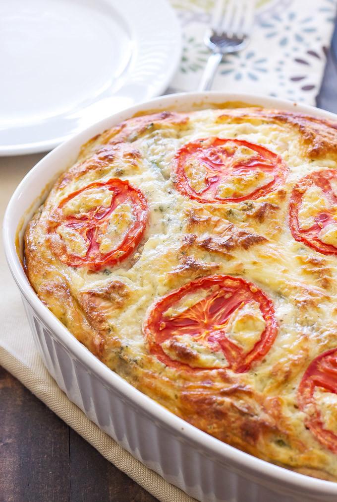 Vegetarian Quiche Recipe  Crustless Ve able Quiche Recipe Runner