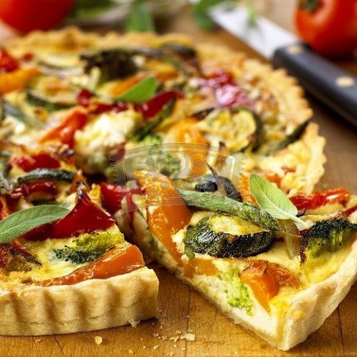 Vegetarian Quiche Recipe  Ve arian Quiche a recipe with wholemeal pastry