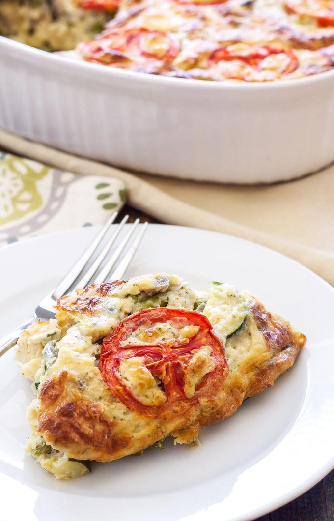 Vegetarian Quiche Recipe  Crustless Ve able Quiche