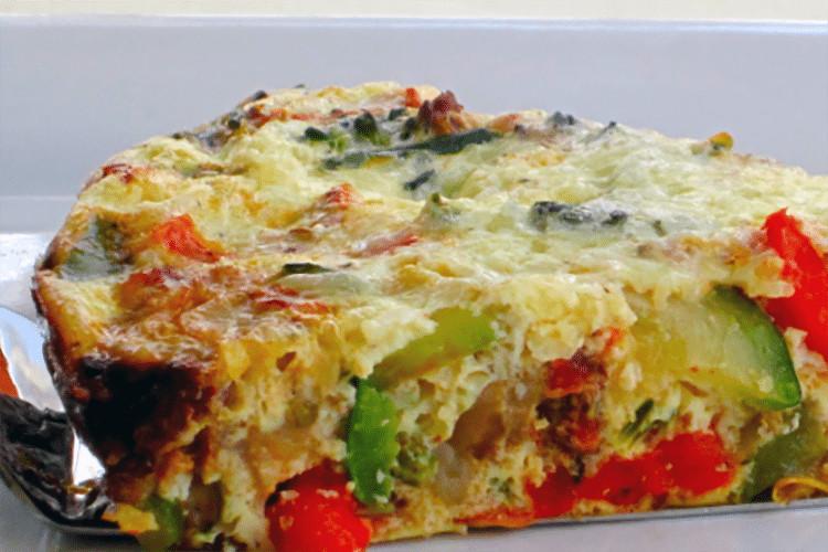 Vegetarian Quiche Recipe  Crustless Ve able Quiche Recipe
