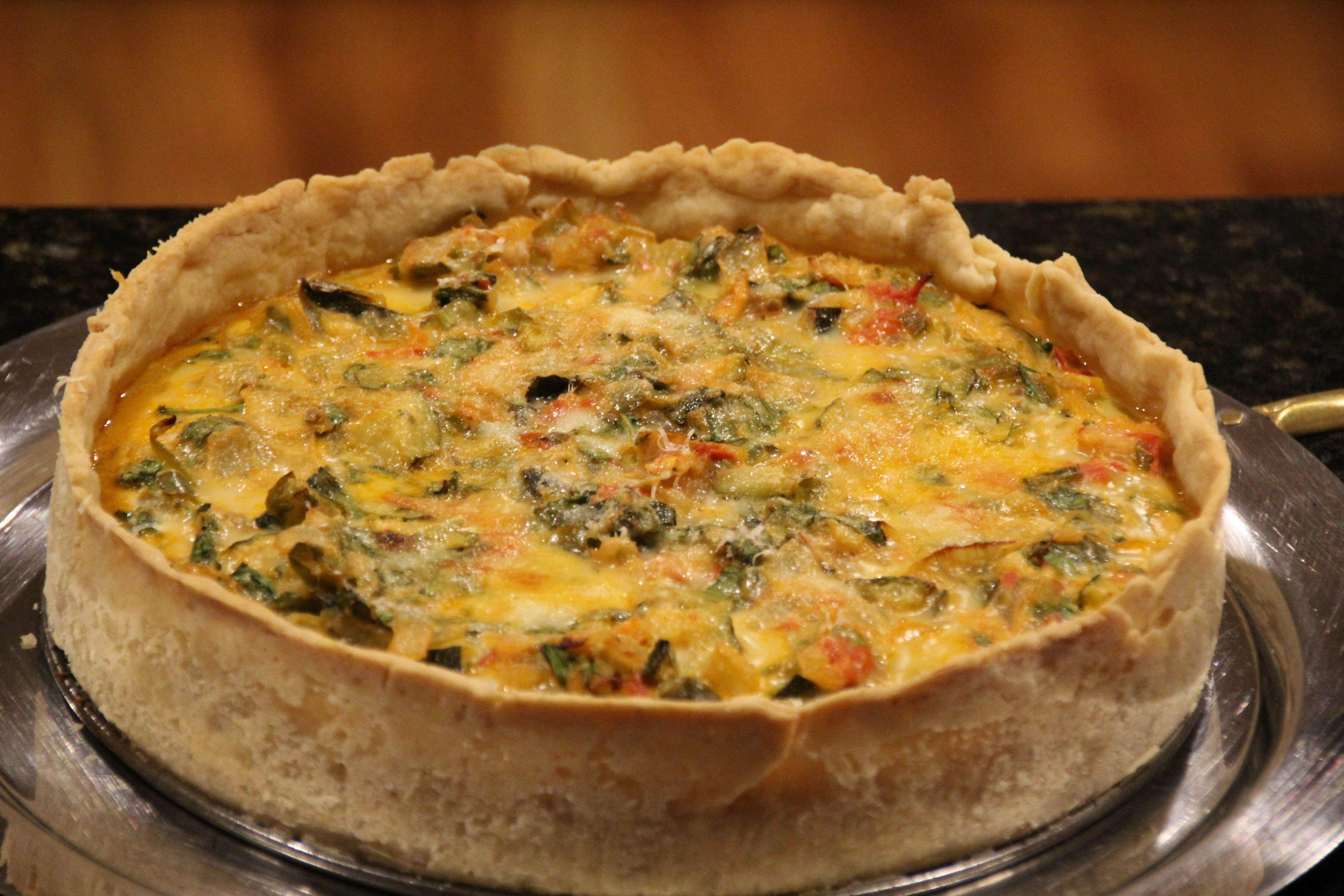 Vegetarian Quiche Recipe  Rustic ve arian quiche recipe All recipes UK