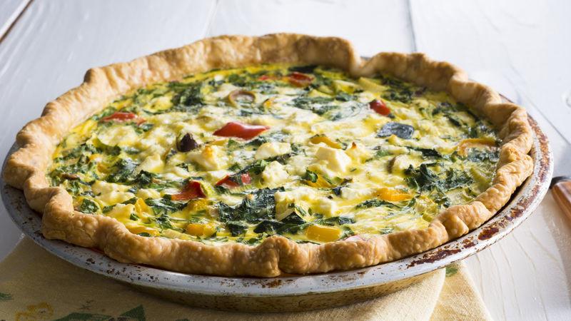 Vegetarian Quiche Recipe  Greek Ve able Quiche recipe from Betty Crocker
