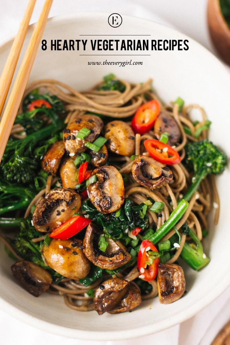 Vegetarian Recipes Easy  8 Hearty Ve arian Recipes for Meatless Monday The