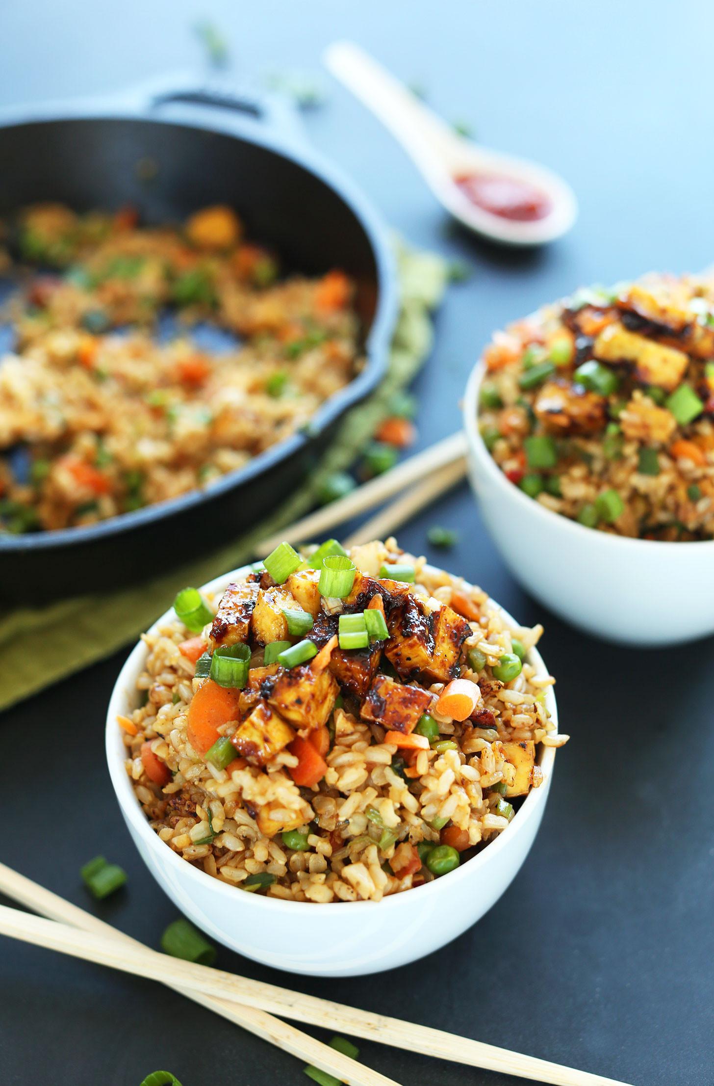 Vegetarian Recipes Easy  Vegan Fried Rice