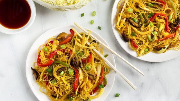 Vegetarian Rice Noodles Recipe  Ve arian and Vegan Asian Recipes