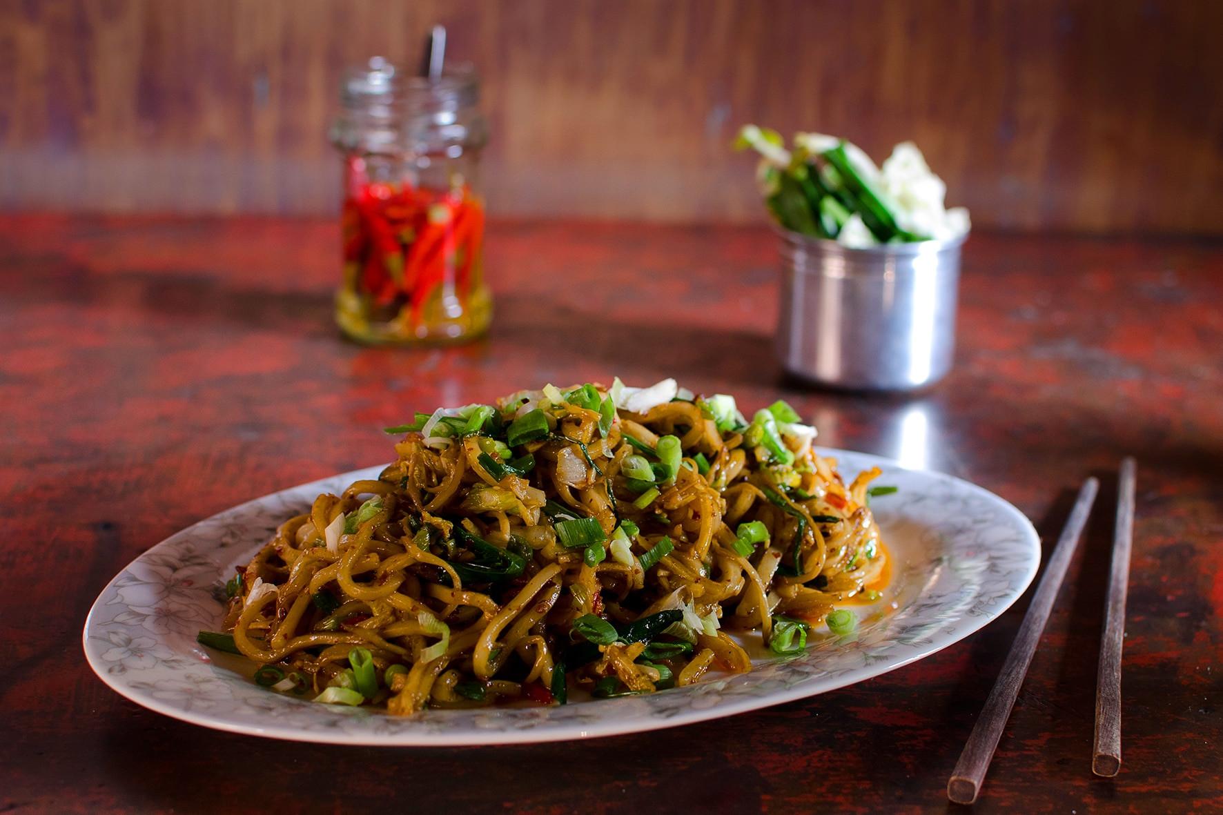 Vegetarian Rice Noodles Recipe  Dali ve arian rice noodle stir fry recipe SBS Food